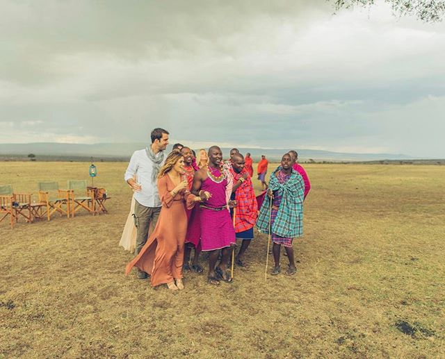 "this was one of those surreal moments where time stands still as you wonder ""how did i get here?! what is my LIFE?!"" dancing with these masai warriors celebrating my friends getting married at golden hour under an acacia tree in the masai mara was one of the most incredible, surreal experiences imaginable. in other words, jet lag is real. real rough. thanks for getting married in kenya, @sarahnbuchanan 📷: @bobbyneptune"