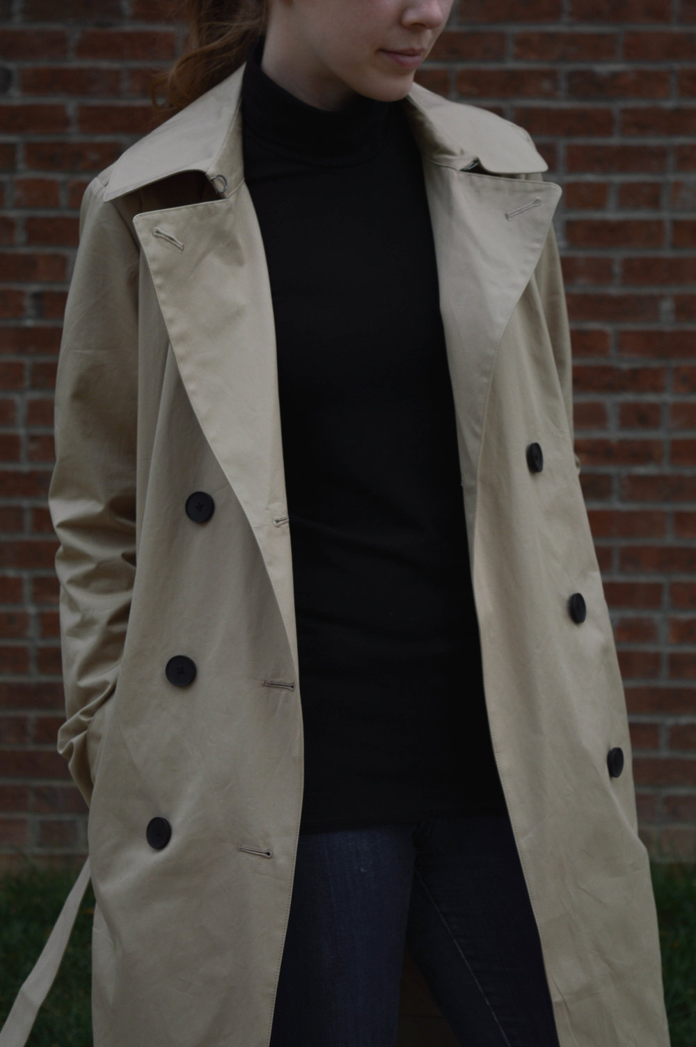 Shown:  The Everlane Trench in Tan