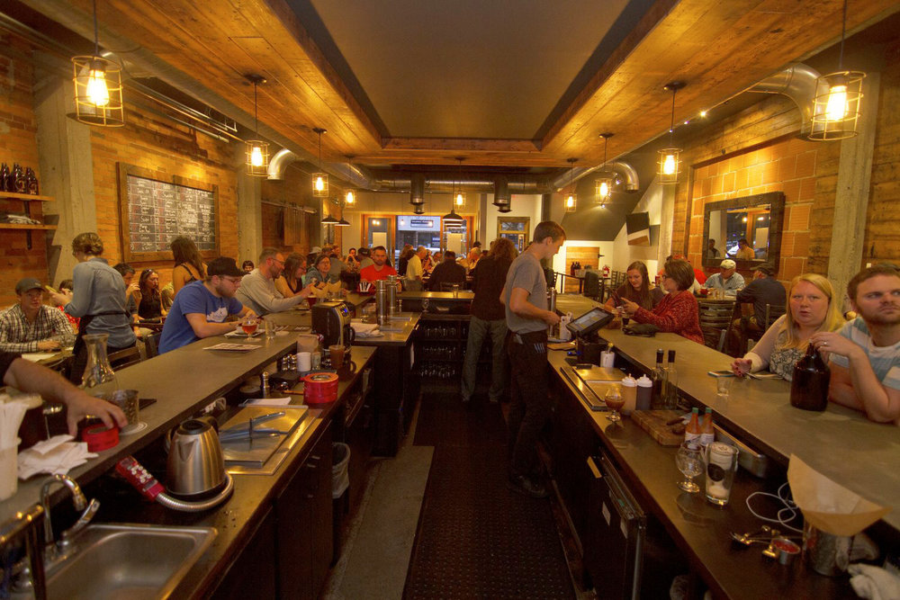 After: Tapped is a popular and thriving restaurant in the heart of downtown Moscow, Idaho.
