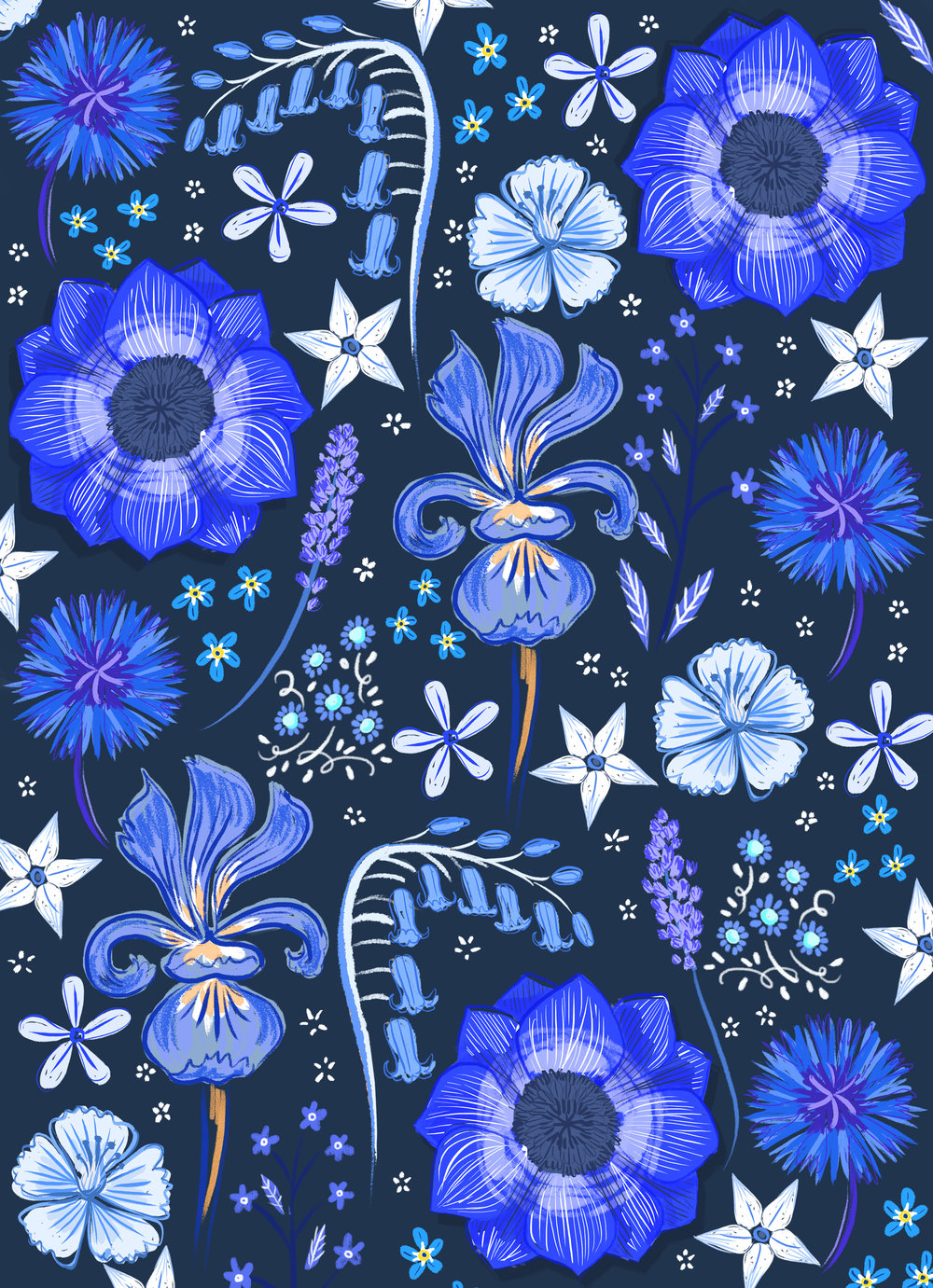 Blue Flower Pattern2.jpg