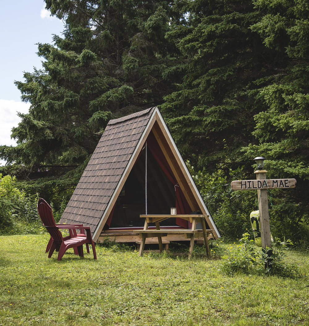 Pictou Island Wooden Tents