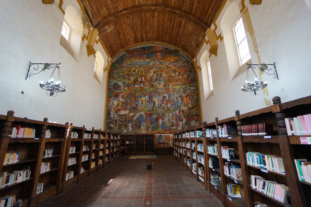 The public library in Patzcuaro, Mexico.