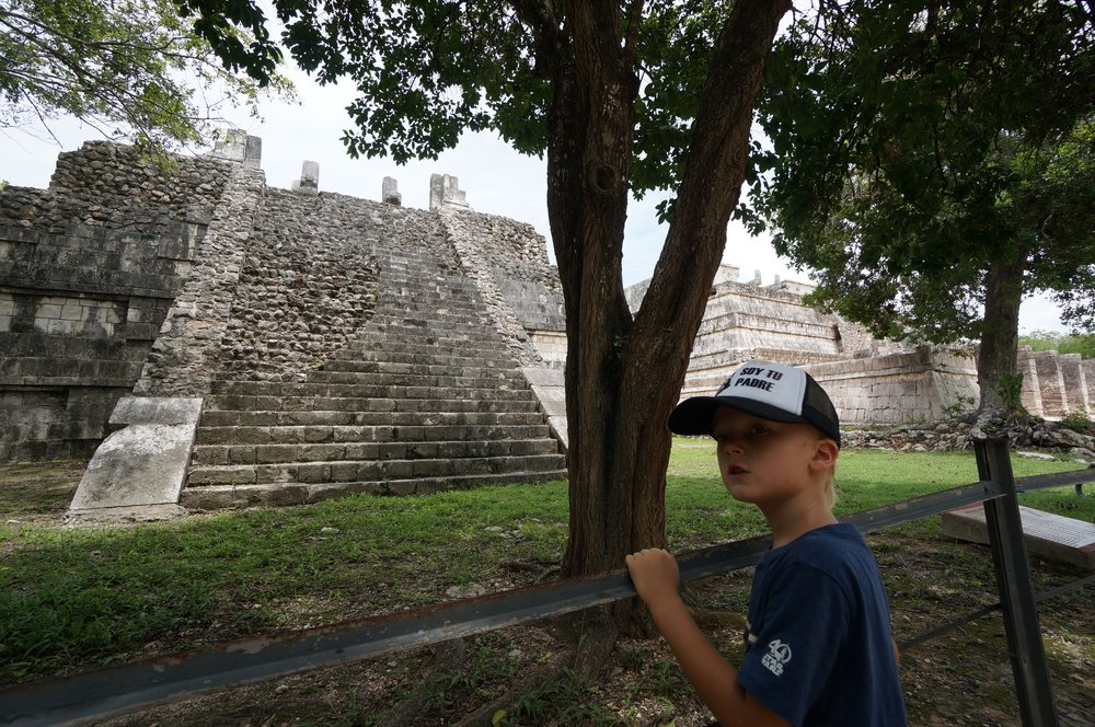 Appreciating the architecture at the Mayan ruins of Palenque.