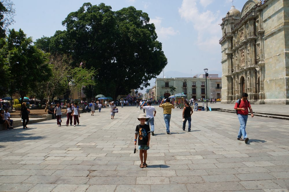 Practicing photography skills in Oaxaca City.