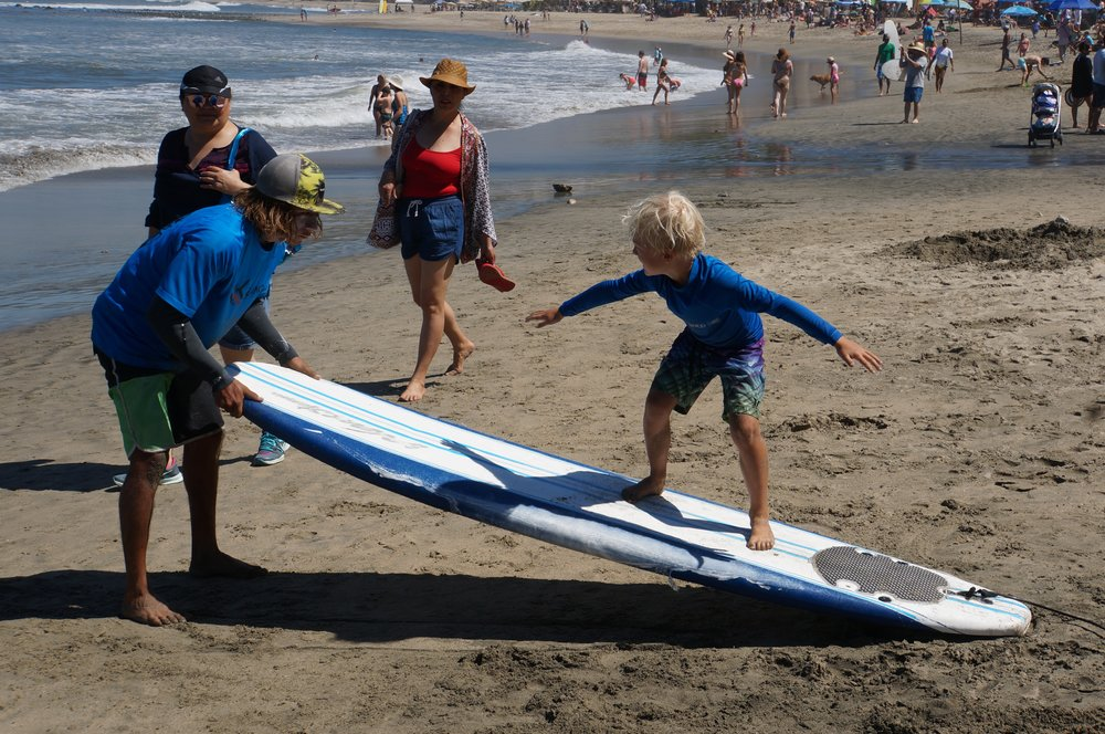 Surf lessons in Sayulita.
