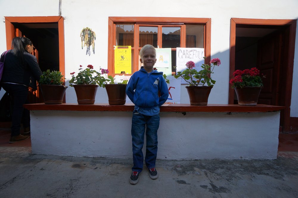 Spanish school in Patzcuaro.
