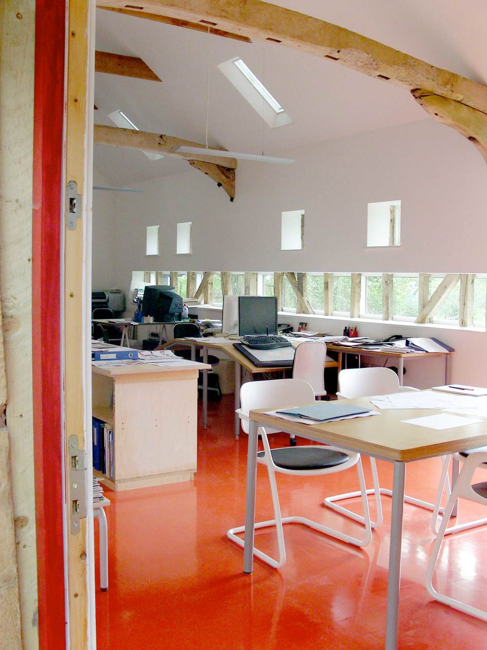 Architect's Studio modece office in hartest, suffolk hemp deep green eco commercial design