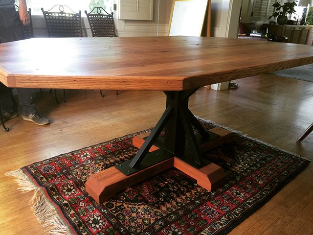 Delivered this table a while back. All reclaimed wood, including some really nice white oak that had a previous life as a fence in Kentucky.  #notmypresident