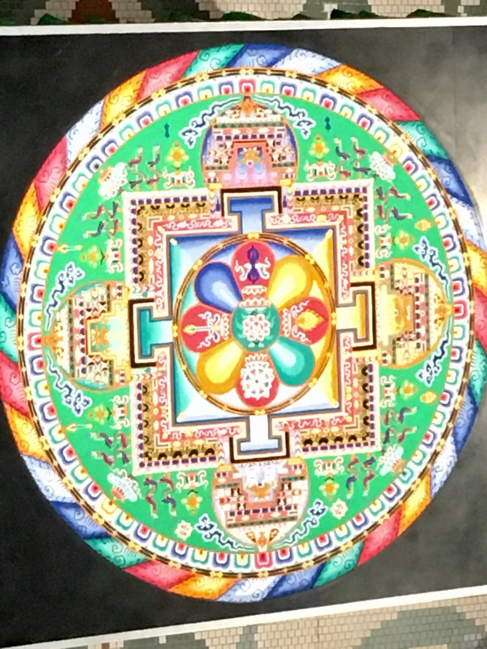 Mandala in City Hall, unfortunately the video of the deconstruction is too big to copy here.