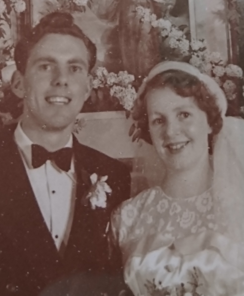 My Pop and Nan (Brian and Mary Hill) on their wedding day.