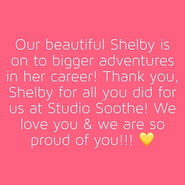 We will miss you @shelbylelbs, but we are so excited to watch you rock your next adventure! Thank you for everything you did for us & keeping Studio Soothe running perfectly!!!!! ❤️❤️❤️❤️❤️❤️❤️❤️❤️❤️❤️❤️❤️❤️❤️❤️❤️❤️❤️❤️❤️❤️❤️❤️❤️❤️ . . . . . #weloveshelby #grateful #spagoddess #sanfrancisco  #organicskincare #holisticskincare #massagetherapy