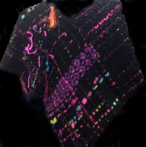 Woven shawl - View from back