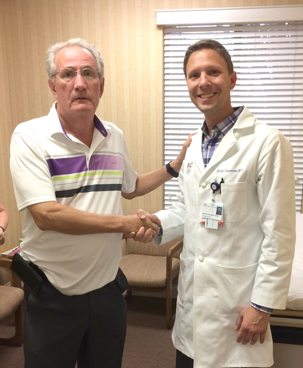 """Dr. Freeman helped give me my life back."" - – William McCarty"