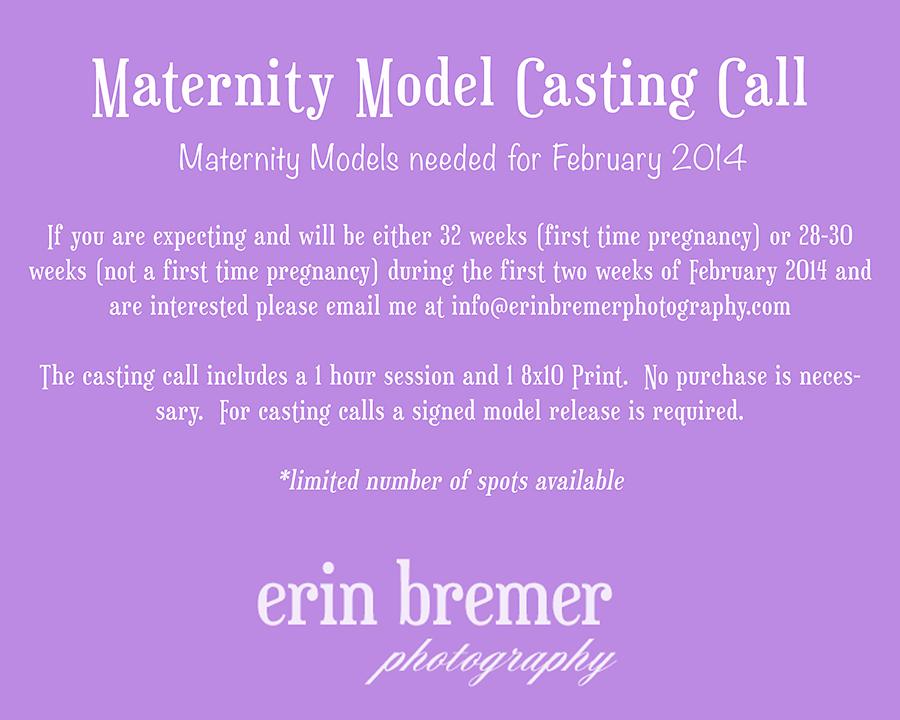 Albany NY Maternity Model Casting Call