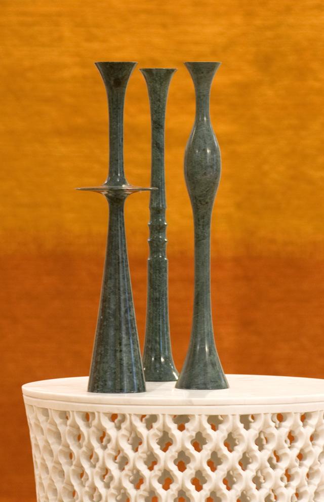 Plat, Flute & Ove Candlesticks