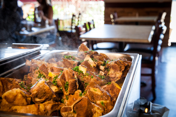 Steaming Lamb Shoulders on the Ramadan Iftar buffet