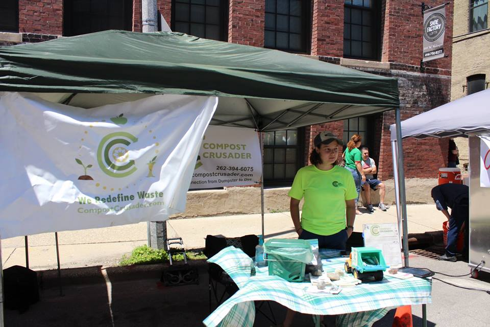 Compost Crusader at our recent Garlic Fest!