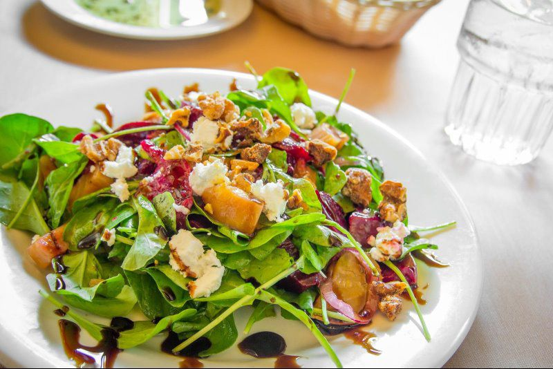 Beet salad is a customer favorite!
