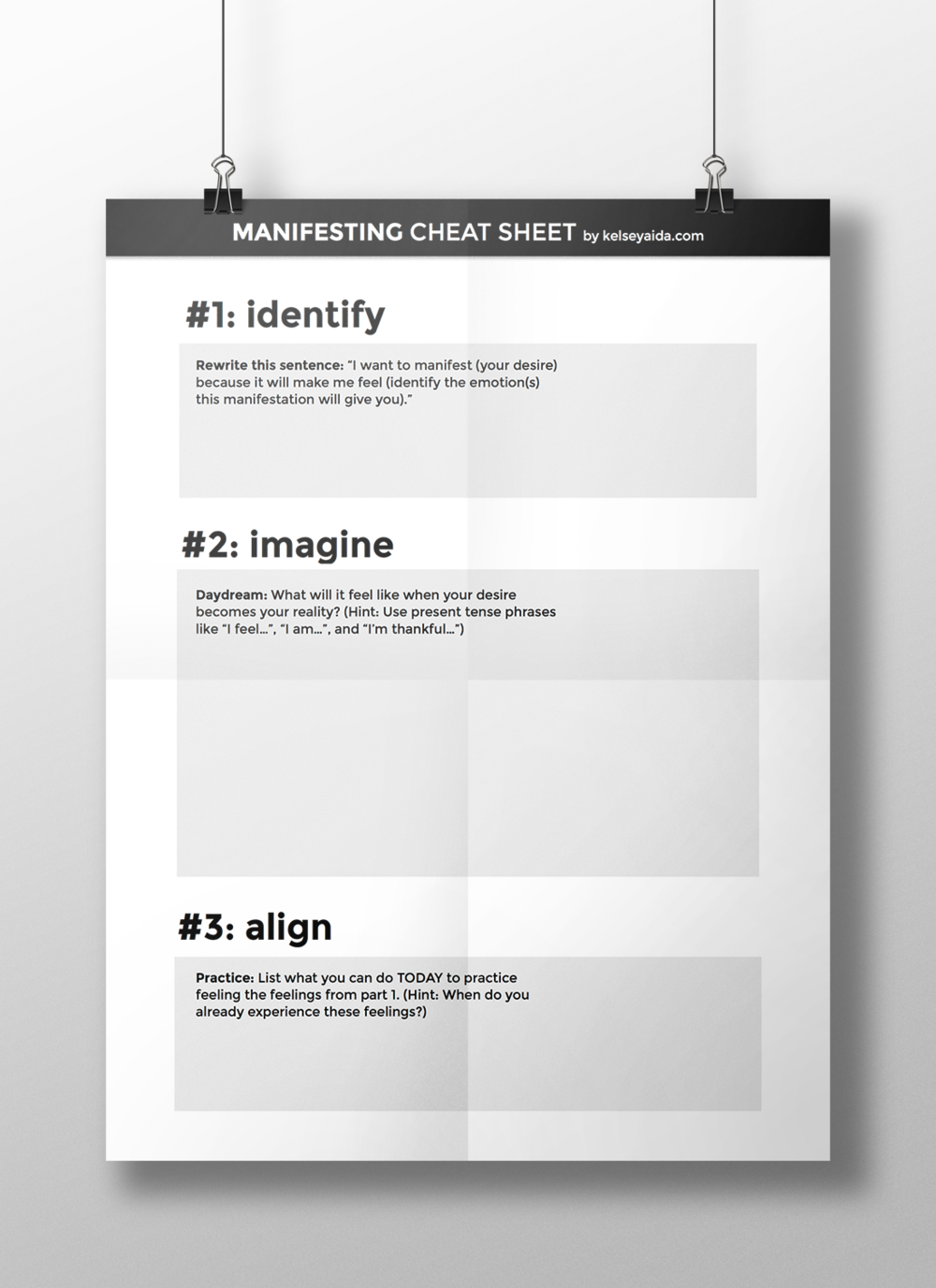 Manifesting Cheat Sheet
