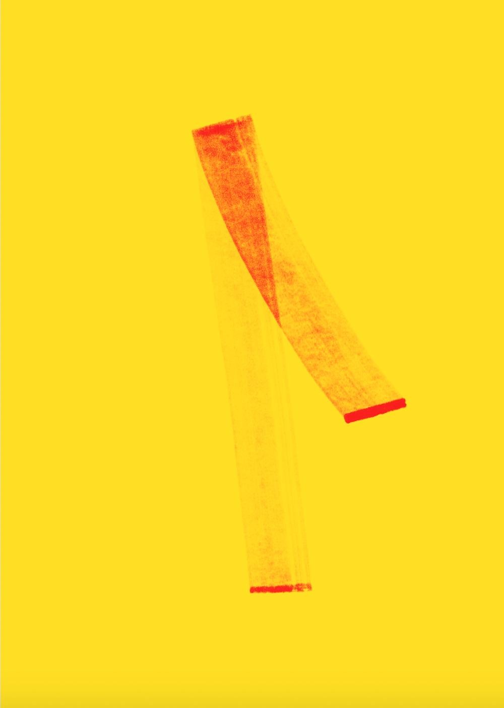 #3 gerlach en koop - 2017 - 50 x 70 cm Geprint met de Epson Surecolor SC-P9000 op Ursus 300 grams gekleurd papier.