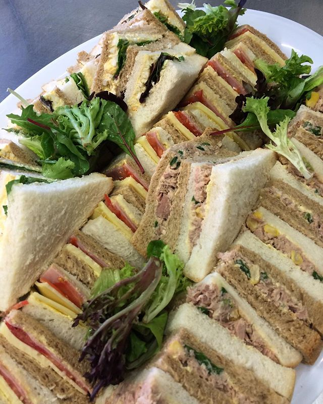 Fresh sandwiches this morning #freshisbest #cafe #produce