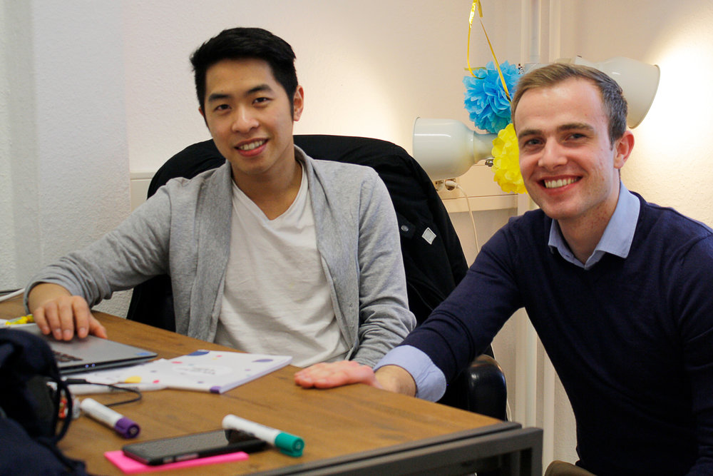 Hoa und Oliver, zwei der Gründer von Applilife