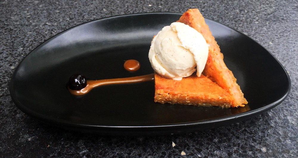 Cracked - brown sugar custard, oatmeal crust, salted caramel, vanilla bean ice cream