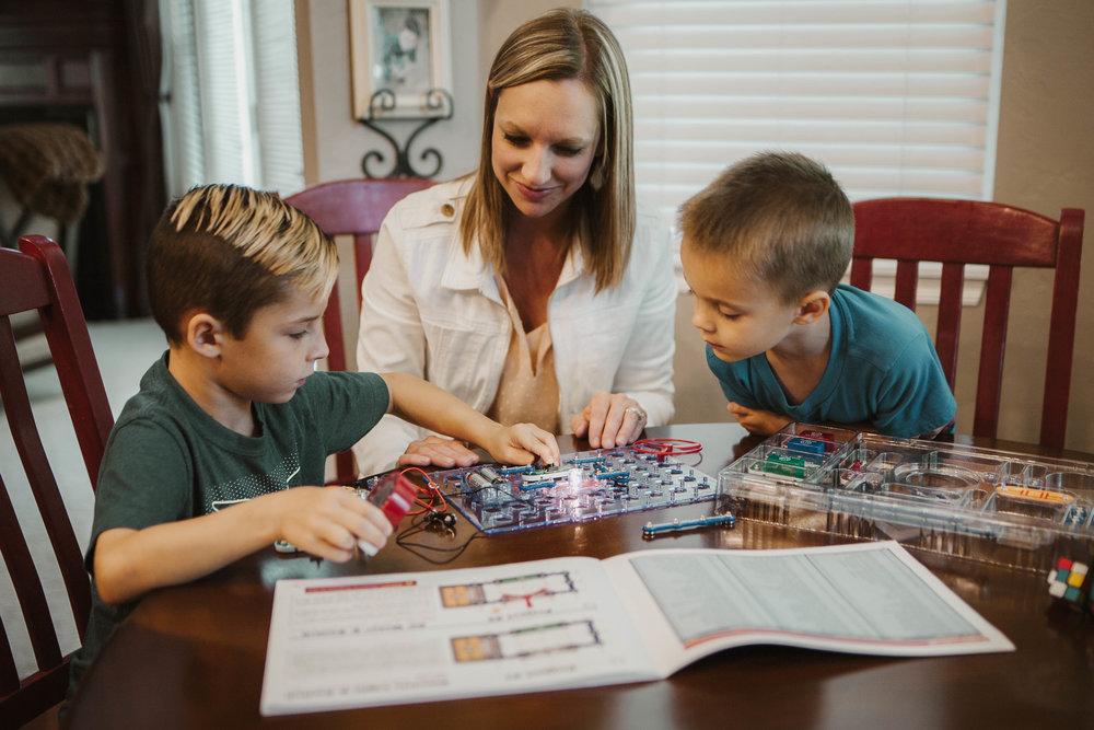 Cristi Killian with sons Lincoln and Jackson.