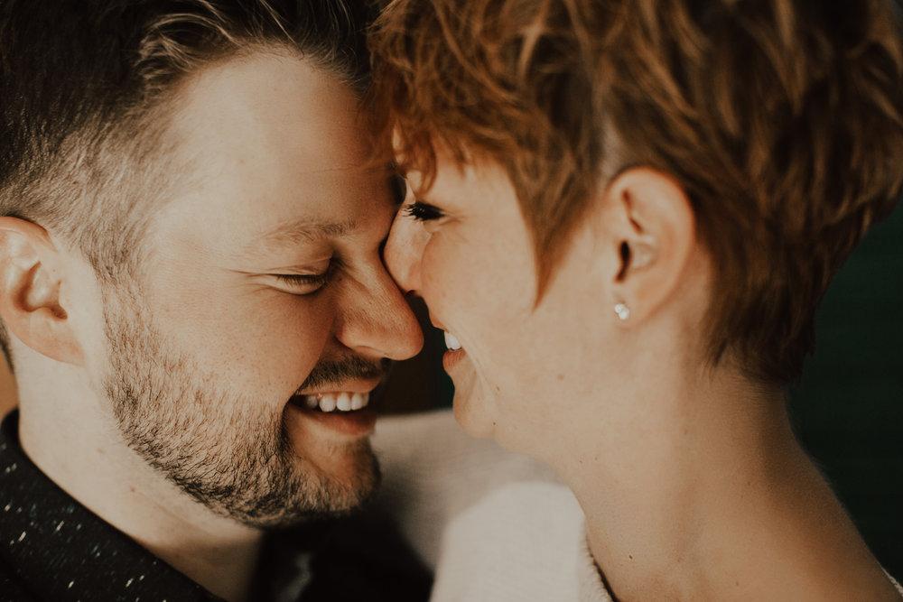 Josh + Bryana - In-home engagement