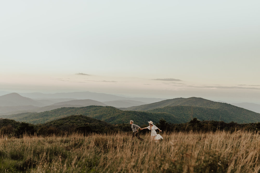 Liz + Tiana - Max Patch Mountain, NC | Adventure Session