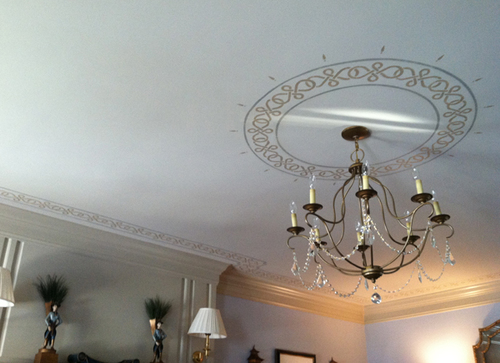 Ceiling Art   Custom stenciling