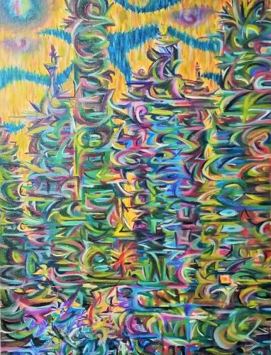 "Tomorrow Acrylic on Canvas, 18""x24"""