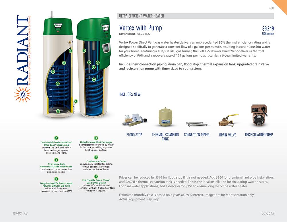 Radiant Plumbing // Product Menus