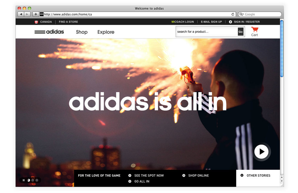 adidas is all in    digital avenues — Everett Ching • Art Direction ... d749525f0