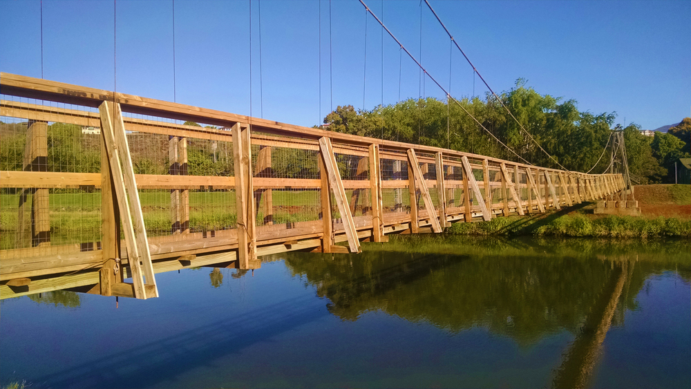swinging bridge, Hanapepe.