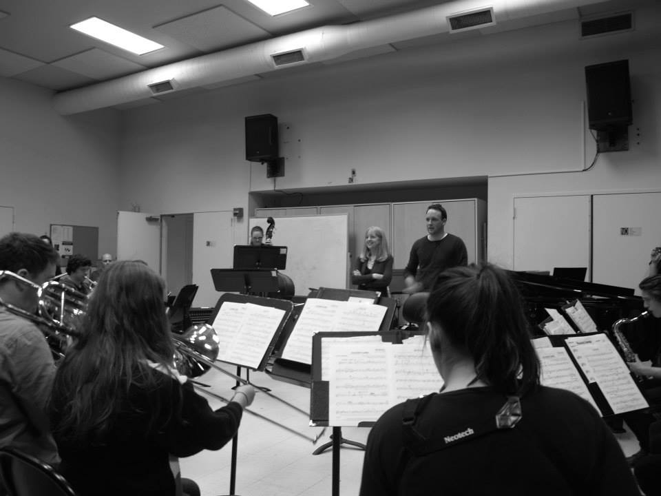 with Eltham High School Stage Band and Maria Schneider