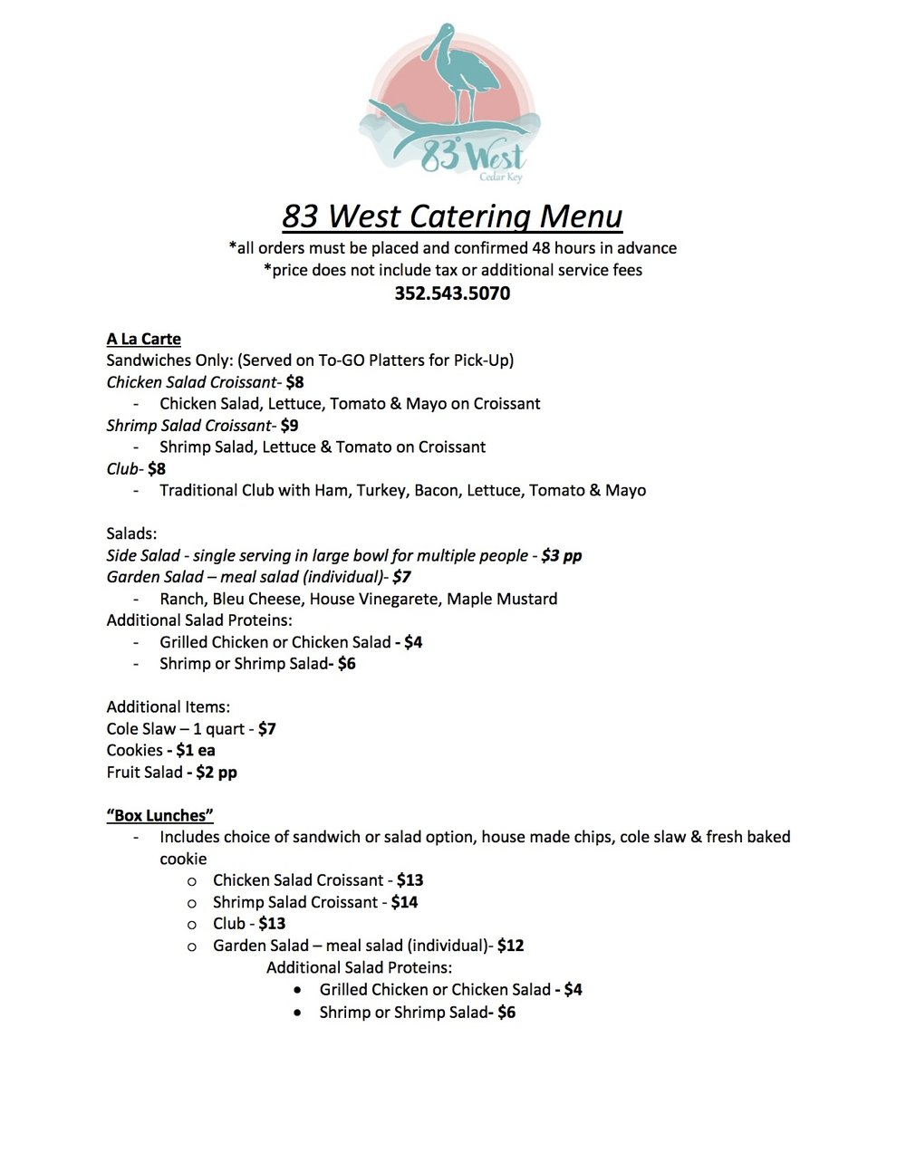 83 West Catering Menu.jpg