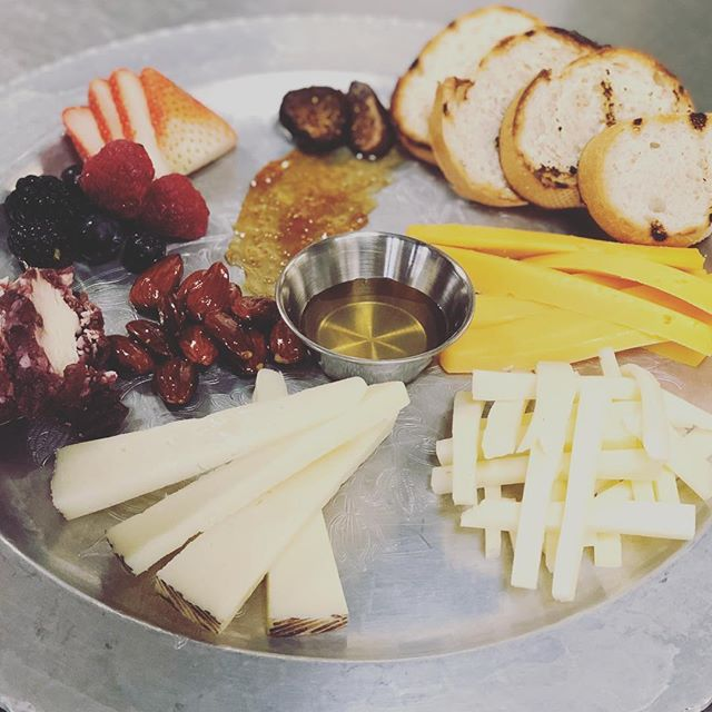 Chef Jordan is perfecting this Valentine's Weekend course menu and we will post later today, but this delicious cheese board is available every weekend this season 😍