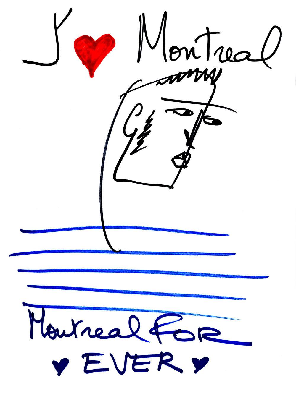 Jean Paul Gaultier (né en 1952),  J'aime Montréal , 2017.