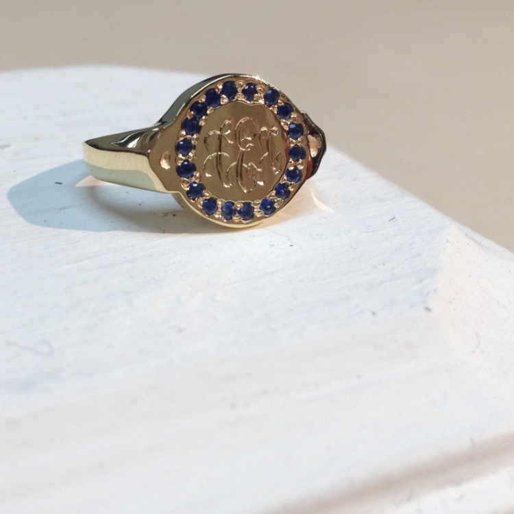 18kt gold and ethical sapphires