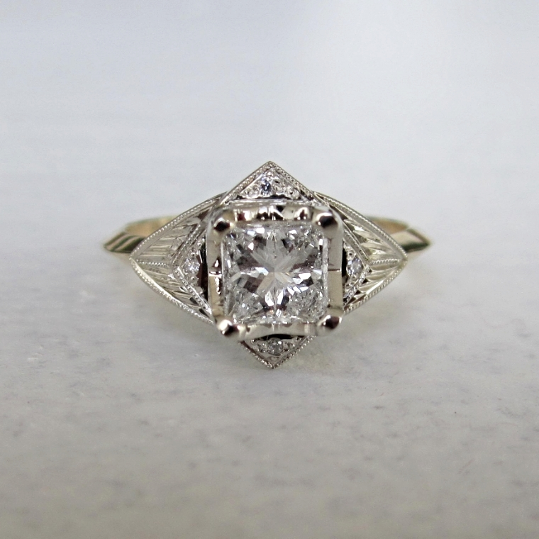 Canadian diamond and 14kt gold