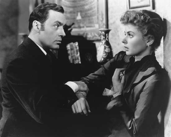 "Ingrid Bergman and Charles Boyer in ""Gaslight.""  MGM"