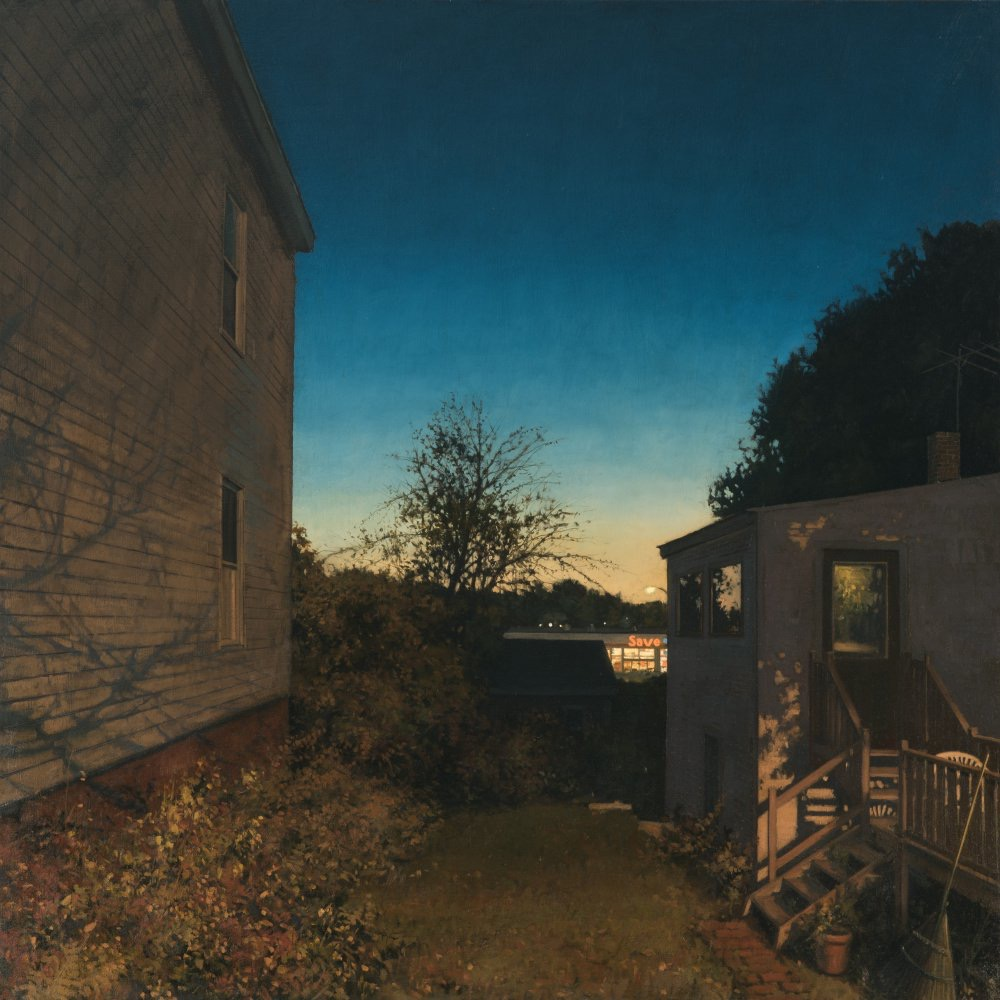 Save-A-Lot, oil on linen 36 x 36, story by Anthony Doerr
