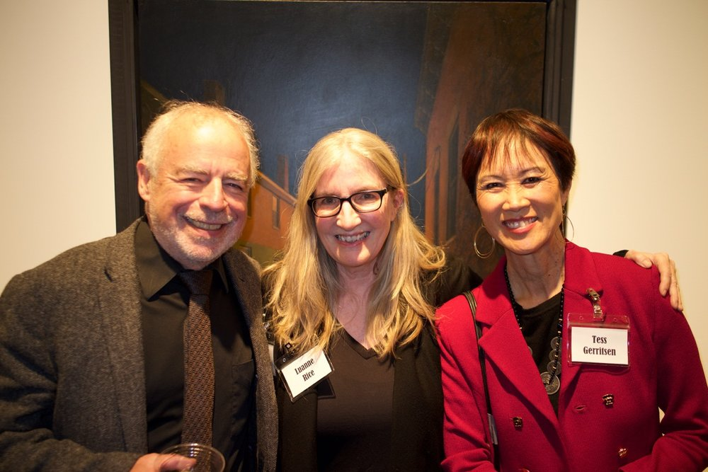 With Richard Russo and Tess Gerritsen (photo by Jacob Gerritsen)