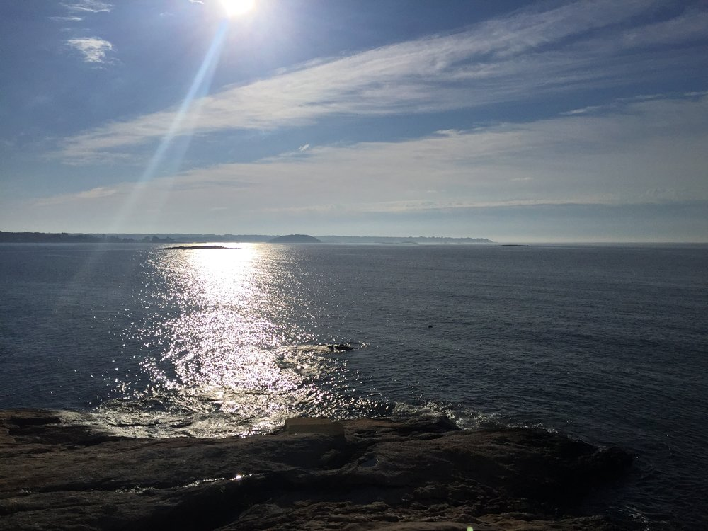 Morning sun on Long Island Sound.