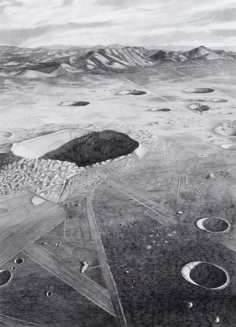 Sedan Crater, Nevada Test Site, after 1972