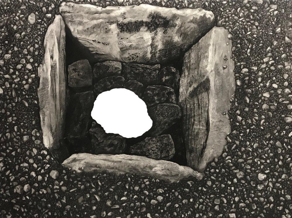 Winona Meteorite in situ at Sinagua Site, 1928