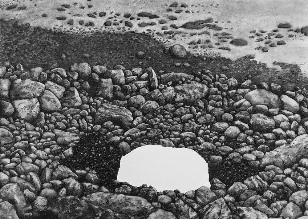 Arnaq Meteorite, in situ before removal, 1896