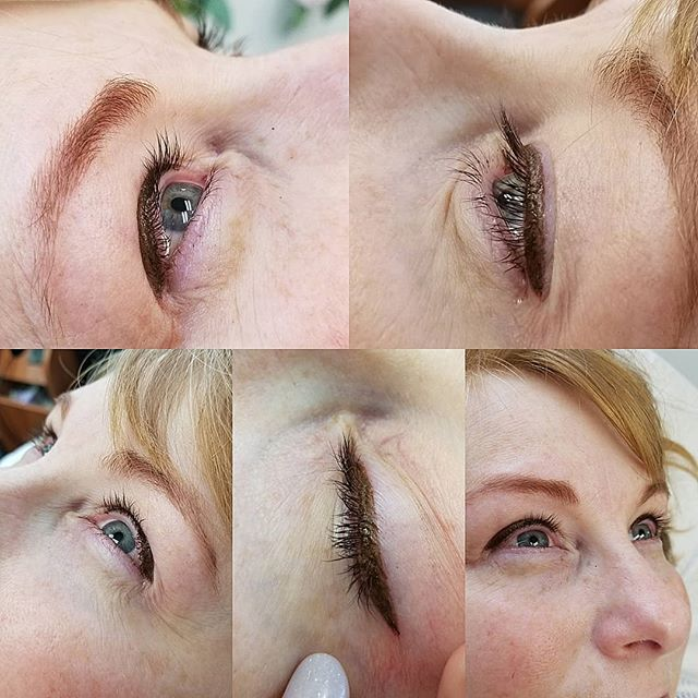 Top liner done with Espresso color by SofTap.