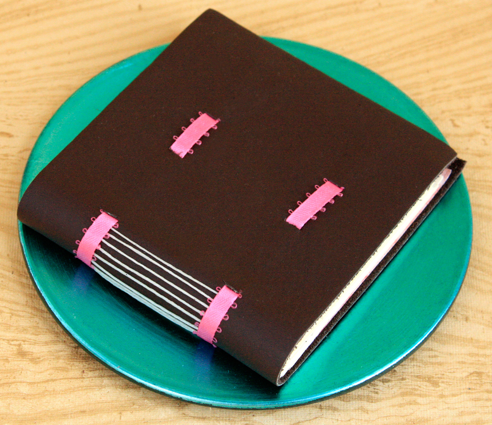 Palm-Sized Leather Journal with Ribbon